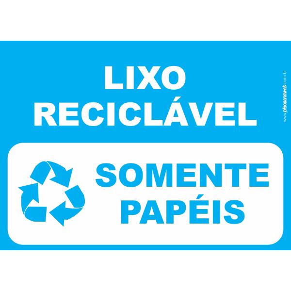 Lixo Reciclável Somente Papéis