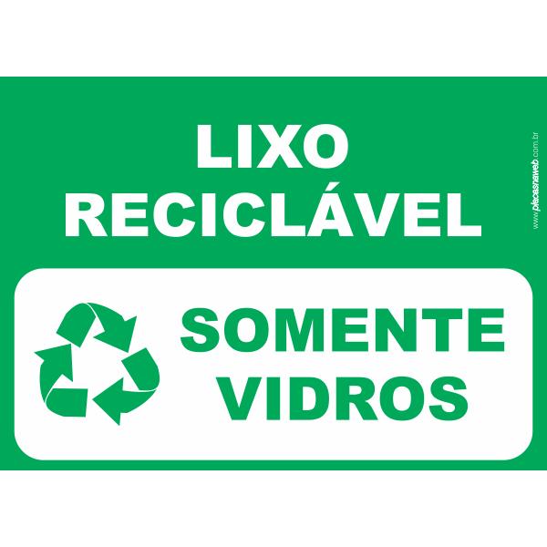 Lixo Reciclável Somente Vidro