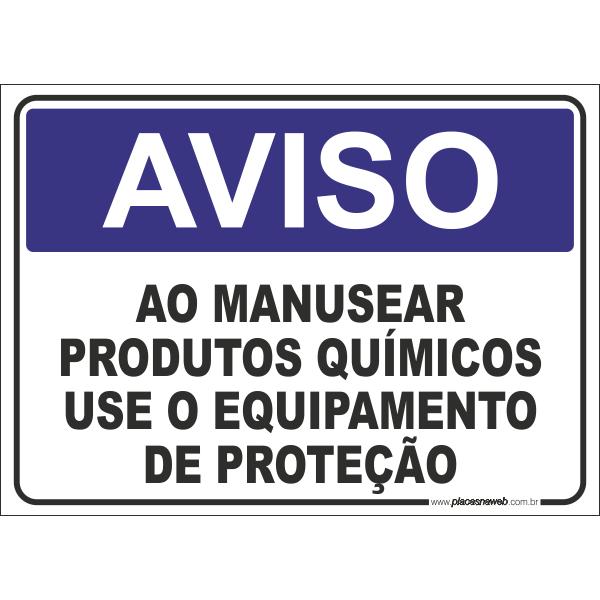 Ao Manusear Produtos Químicos Use Equipamentos de Proteção