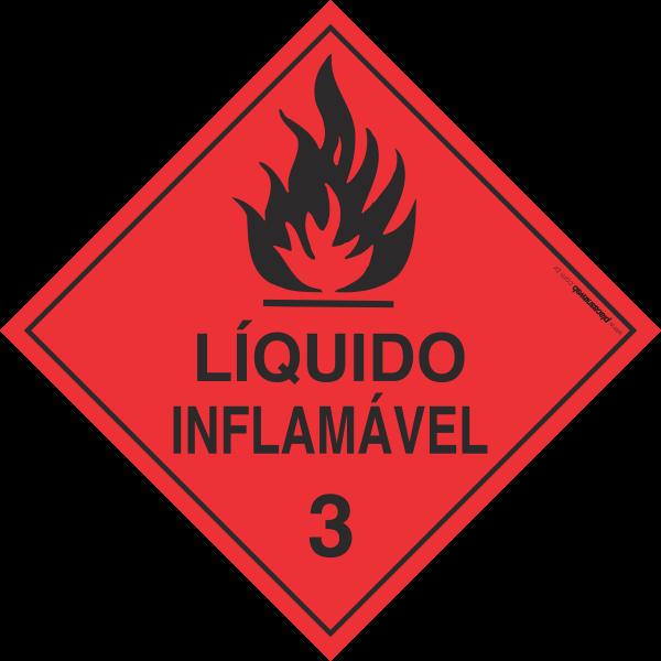 Placa Transporte de Risco Líquido Inflamável 3