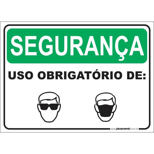 Óculos de Segurança e Máscara