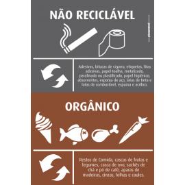 Não Reciclável / Orgânico - Instruções