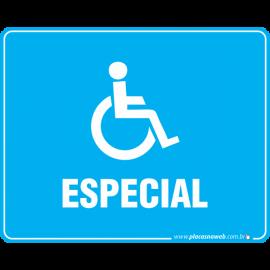 Placa Acessibilidade Cadeirante Especial