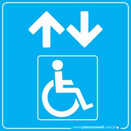 Placa Acessibilidade Elevador Cadeirante