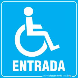 Placa Acessibilidade Entrada para Cadeirante