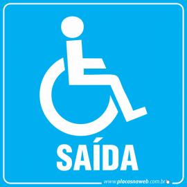 Placa Acessibilidade Saída Cadeirante