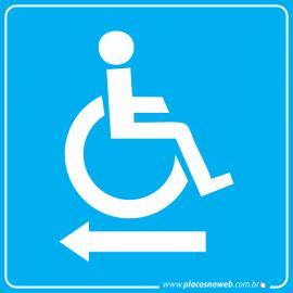 Placa Acessibilidade Saída Esquerda Cadeirante