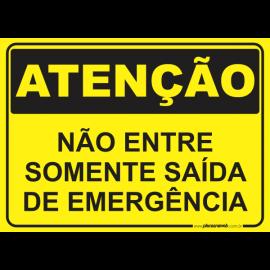 Não Entre Somente Saída de Emergência