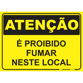 É Proibido Fumar Neste Local