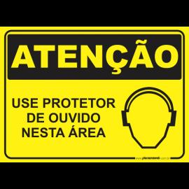 Use Protetor de Ouvido Nesta Área com Pictograma