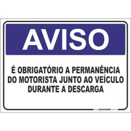 Obrigatório a Permanência do Motorista Junto ao Veículo Durante a Descarga