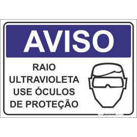Raio Ultra Violeta Use Óculos de Proteção