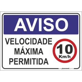 Velocidade Máxima Permitida 10KM/h