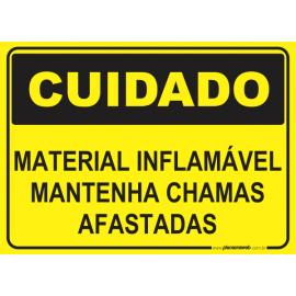 Material Inflamável Mantenha Chamas Afastadas