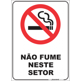 Não Fume neste Setor