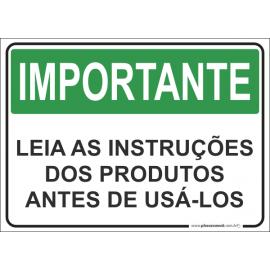 Leia as Instruções dos Produtos Antes de Usá-los