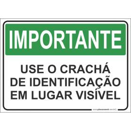 Use o Crachá de Identificação em Lugar Visível
