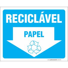 Papel Reciclável com Seta