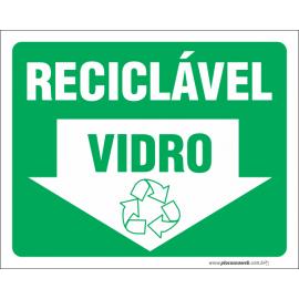 Vidro Reciclável com Seta