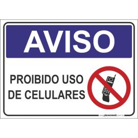 Proibido Uso de Celulares
