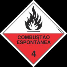 Placa Transporte de Risco Combustão Espontânea 4