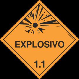 Placa Transporte de Risco Explosivos 1.1