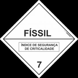Placa Transporte de Risco Físsil 7