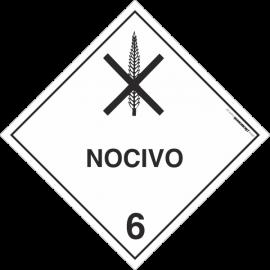 Placa Transporte de Risco Nocivo 6