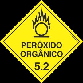 Placa Transporte de Risco Peróxido Orgânico 5.2