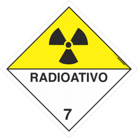 Placa Transporte de Risco Radioativo 7