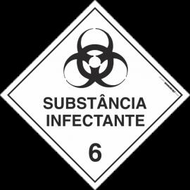Placa Transporte de Risco Substância Infectante 6