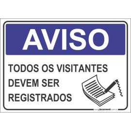 Todos os Visitantes Devem Ser Registrados