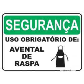 Uso Obrigatório de Avental de Raspa