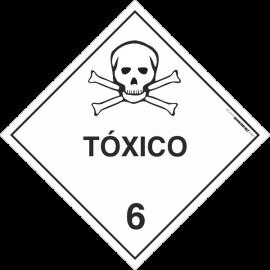 Placa Transporte de Risco Tóxico 6
