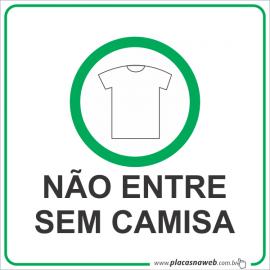 Adesivo Não Entre Sem Camisa com Legenda