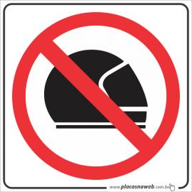 Adesivo Proibido Entrar Com Capacete
