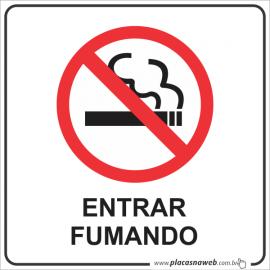Adesivo Proibido Entrar Fumando com Legenda